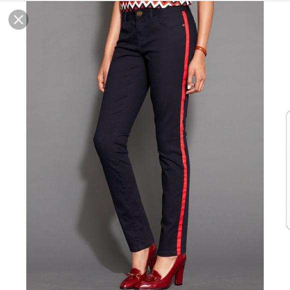 tommy hilfiger red stripe jeans